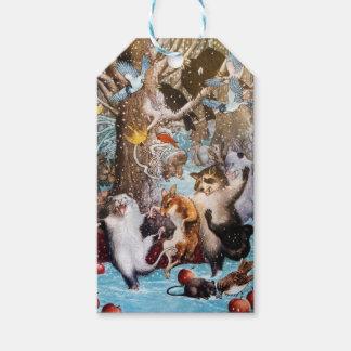 Etiqueta Para Presente Natal no Tag do presente das madeiras