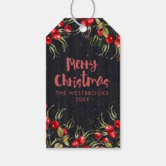 Etiqueta Para Presente Natal vermelho da baga
