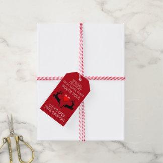 Etiqueta Para Presente Natal vermelho do papai noel da entrega especial