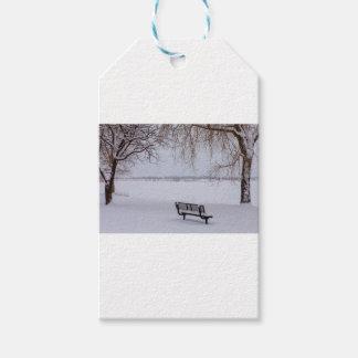 Etiqueta Para Presente Neve caída fresca