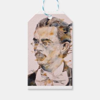 Etiqueta Para Presente nietzsche de Friedrich - aguarela portrait.2