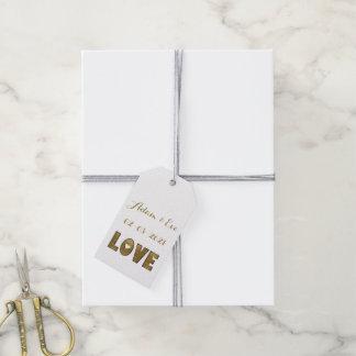 Etiqueta Para Presente Noivado elegante do casamento do ouro da