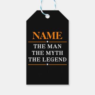 Etiqueta Para Presente Nome personalizado o homem o mito a legenda