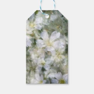 Etiqueta Para Presente Nuvem das flores brancas