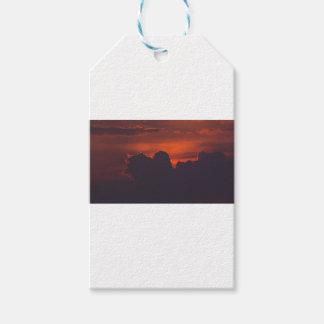 Etiqueta Para Presente Nuvens alaranjadas roxas do por do sol