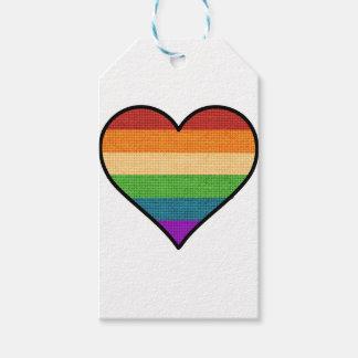Etiqueta Para Presente O amor de LGBT é coração do arco-íris do amor
