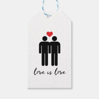 Etiqueta Para Presente O amor é amor (os homens) + Coração