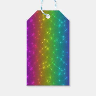 Etiqueta Para Presente O arco-íris brilhante Sparkles Tag do presente