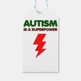 Etiqueta Para Presente O autismo é poder super, crianças, miúdos,