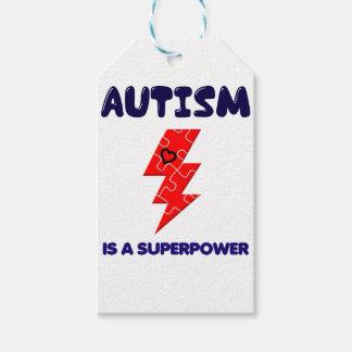 Etiqueta Para Presente O autismo é superpotência, mente mental da saúde