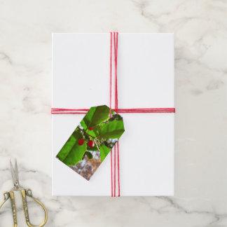 Etiqueta Para Presente O azevinho sae da natureza do feriado II botânica
