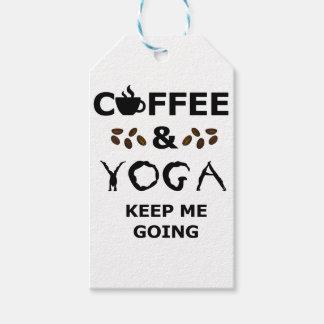 Etiqueta Para Presente O café e a ioga mantêm-se ir