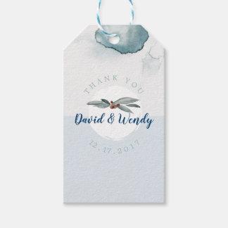 Etiqueta Para Presente O casamento azul do país das maravilhas do inverno