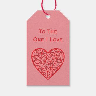 """Etiqueta Para Presente """"O coração dos namorados ao um amor de I"""""""