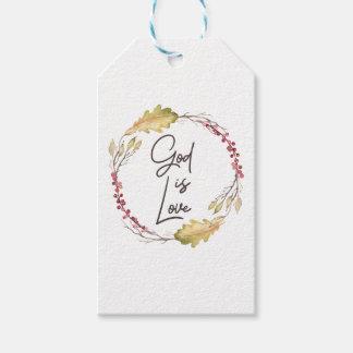 Etiqueta Para Presente O deus é amor - espiritual e religioso