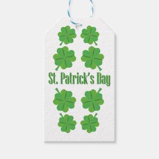 Etiqueta Para Presente O dia de St Patrick com trevo