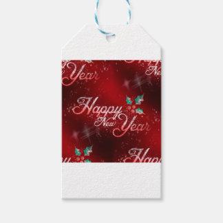 Etiqueta Para Presente o feliz ano novo do azevinho