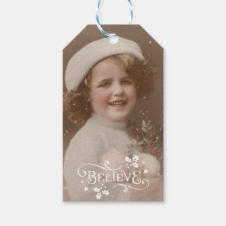Etiqueta Para Presente O Feliz Natal acredita o feriado dos Tag do