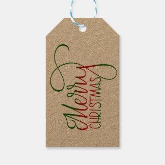 Etiqueta Para Presente O Feliz Natal entrega Tag indicado por letras do