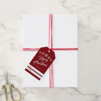 Etiqueta Para Presente O Feliz Natal festivo faz malha flocos de neve