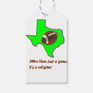 Etiqueta Para Presente O futebol em Texas é religião