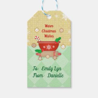 Etiqueta Para Presente O Natal deseja o Tag feito sob encomenda do