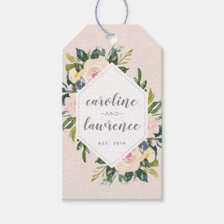 Etiqueta Para Presente O primavera floral cora Tag do presente de