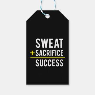 Etiqueta Para Presente O suor mais o sacrifício iguala o sucesso -