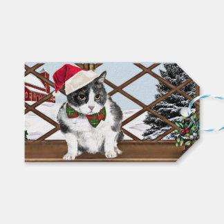 Etiqueta Para Presente O Tag do presente com Felix, o gatinho, apronta-se