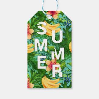 Etiqueta Para Presente O texto tropical do verão na banana floresce o