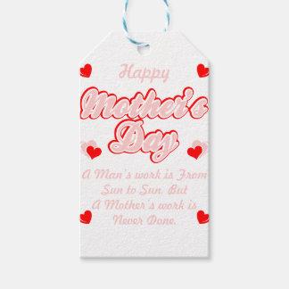Etiqueta Para Presente O trabalho das mães do feliz dia das mães é nunca