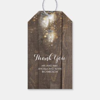 Etiqueta Para Presente O vaga-lume do frasco de pedreiro ilumina rústico