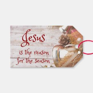 Etiqueta Para Presente O vintage Jesus é a razão para o Natal da estação