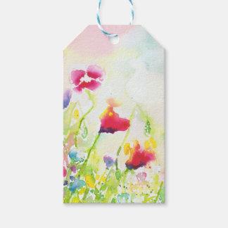 Etiqueta Para Presente o watercolour floresce Tag da bagagem