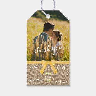 Etiqueta Para Presente Obrigado à moda do casamento do verão você