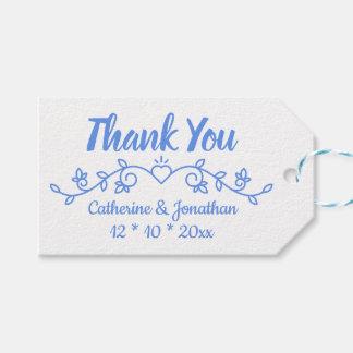 Etiqueta Para Presente Obrigado azul do Cornflower floral você floresce o