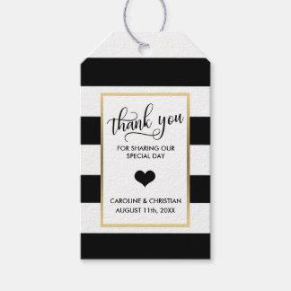 Etiqueta Para Presente OBRIGADO casamento preto do coração do ouro branco