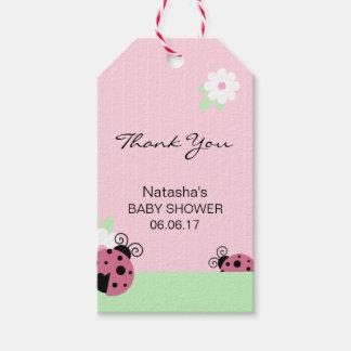 Etiqueta Para Presente Obrigado chá de fraldas cor-de-rosa do limão da