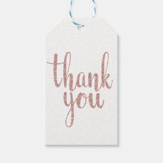 Etiqueta Para Presente Obrigado cor-de-rosa do ouro você favorece Tag,