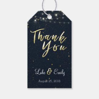 Etiqueta Para Presente Obrigado da meia-noite do favor do casamento do