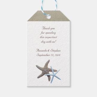 Etiqueta Para Presente Obrigado do casal da estrela do mar você favor do