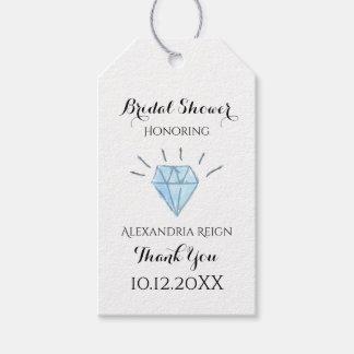 Etiqueta Para Presente Obrigado do chá de panela do diamante você