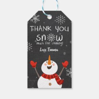 Etiqueta Para Presente Obrigado do inverno você neva muito vermelho do