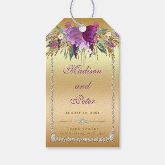 Etiqueta Para Presente Obrigado do ouro do casamento de diamantes das