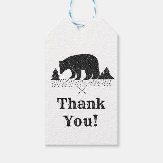 Etiqueta Para Presente obrigado do urso da floresta você Tag do presente