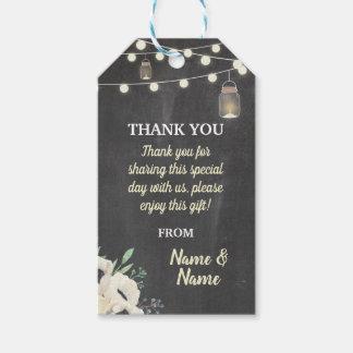Etiqueta Para Presente Obrigado etiquetar o casamento do giz dos Tag do