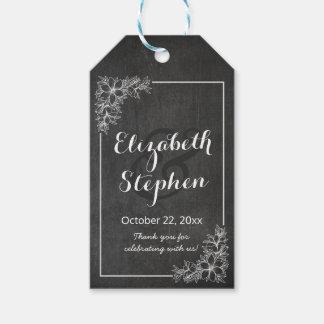 Etiqueta Para Presente Obrigado floral do casamento do quadro elegante