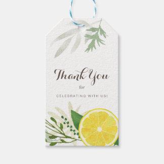 Etiqueta Para Presente Obrigado fresco do limão você Tag do presente