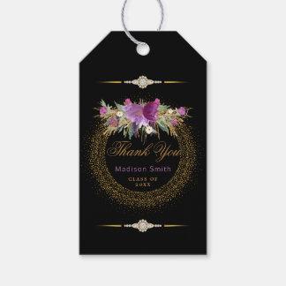 Etiqueta Para Presente Obrigado Glam da graduação você brilha flores