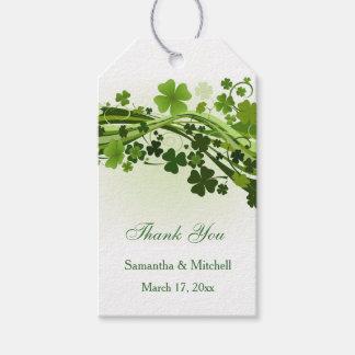 Etiqueta Para Presente Obrigado irlandês do casamento do trevo (trevo)